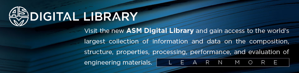 ASM International the Materials Information Society - ASM International